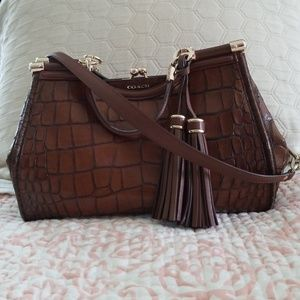 Coach Madison Embossed Croc Carryall